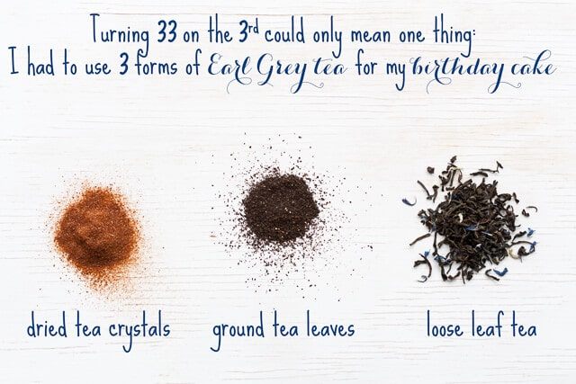 3 forms of Earl Grey tea