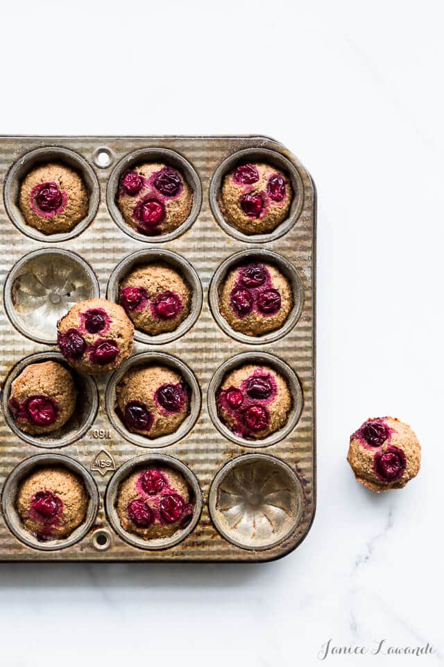 Baked cranberry chestnut financiers