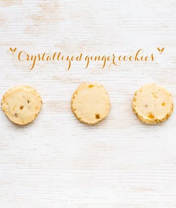 Crystallized ginger cookies are an easy slice and bake cookie
