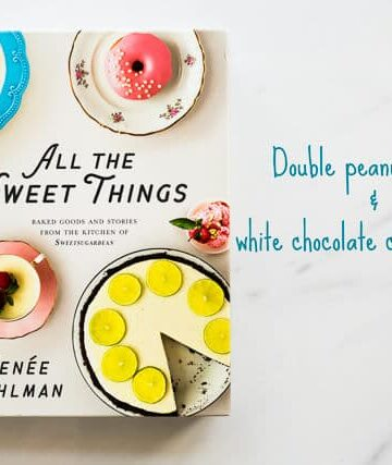 Baking book All the Sweet Things book cover featuring layer cake and homemade donuts