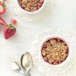 Honey-kissed-strawberry-rhubarb crumbles
