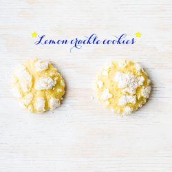 Lemon crackle cookies, also known as lemon crinkle cookies