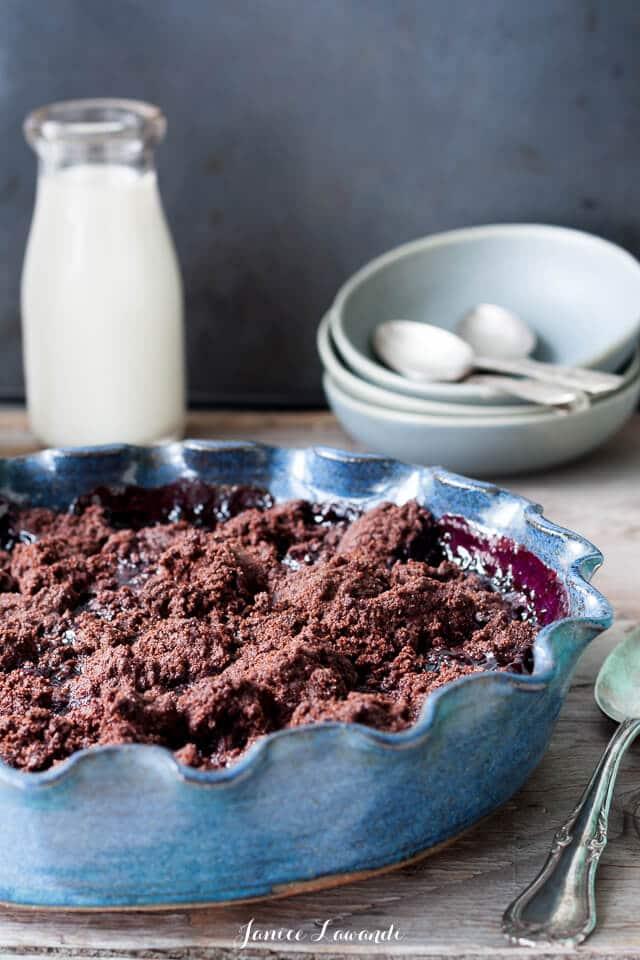 Bing cherry chocolate crumble