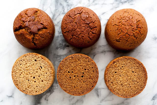 Brown bread experiment cross sections to show what the inside of the brown bread looks like