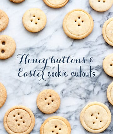 Button-shaped cookies - Honey flavoured cookies