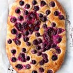 Concord grape focaccia