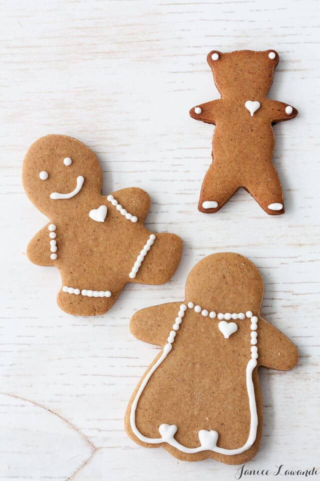 Decorated gingerbread cookie cutout-gingerbread people