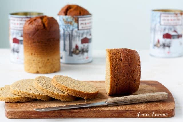 Sliced Quebec brown bread