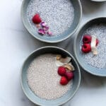 Rosewater chia pudding