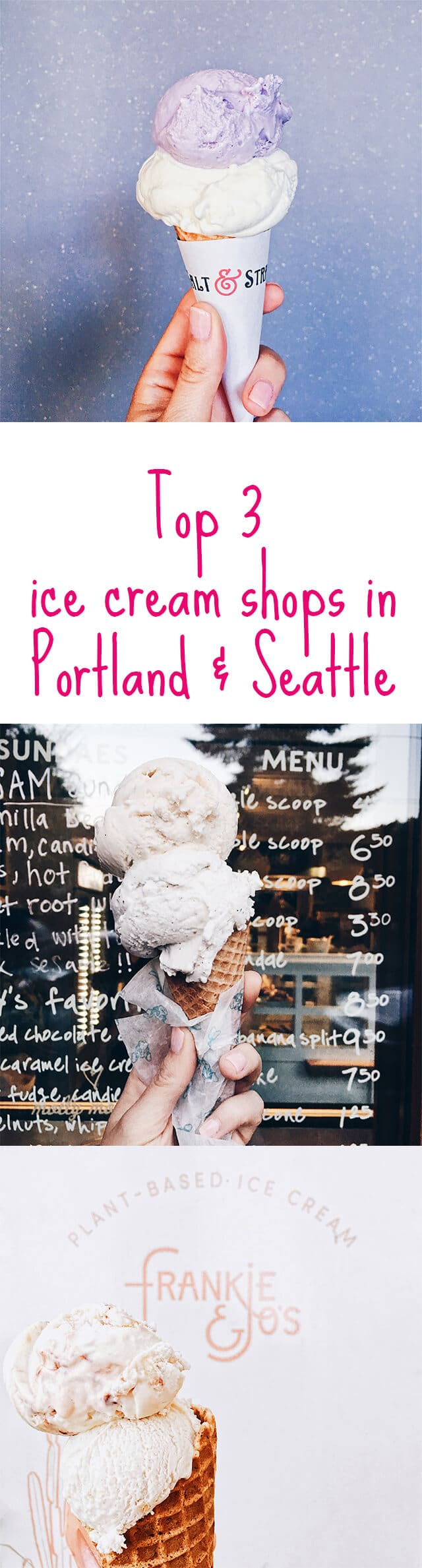 Top 3 ice cream shops in  Portland and Seattle - here's a rundown of the best ice cream in  Portland and Seattle