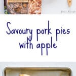 Easy homemade pork pies made-with shredded pork, apple and thyme
