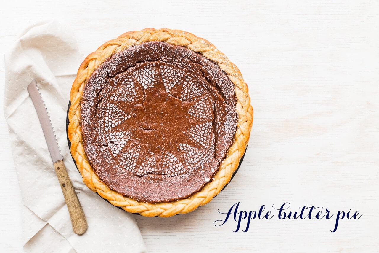 Apple butter pie, like pumpkin pie, but different! Perfect dessert for thanksgiving dinner