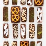 Homemade milk chocolate bars