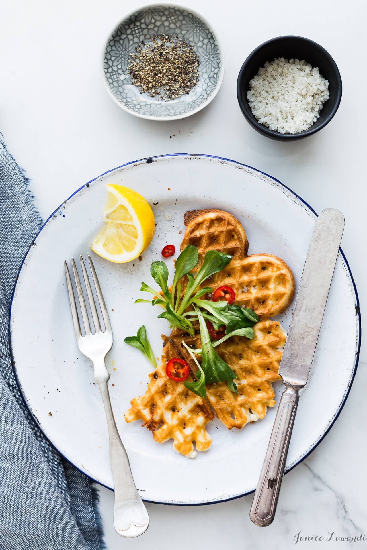Cheese waffles for brunch