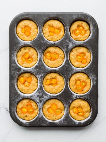 Sesame kumquat financiers