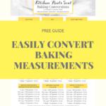 CHEAT SHEET baking ingredient conversions chart printablr