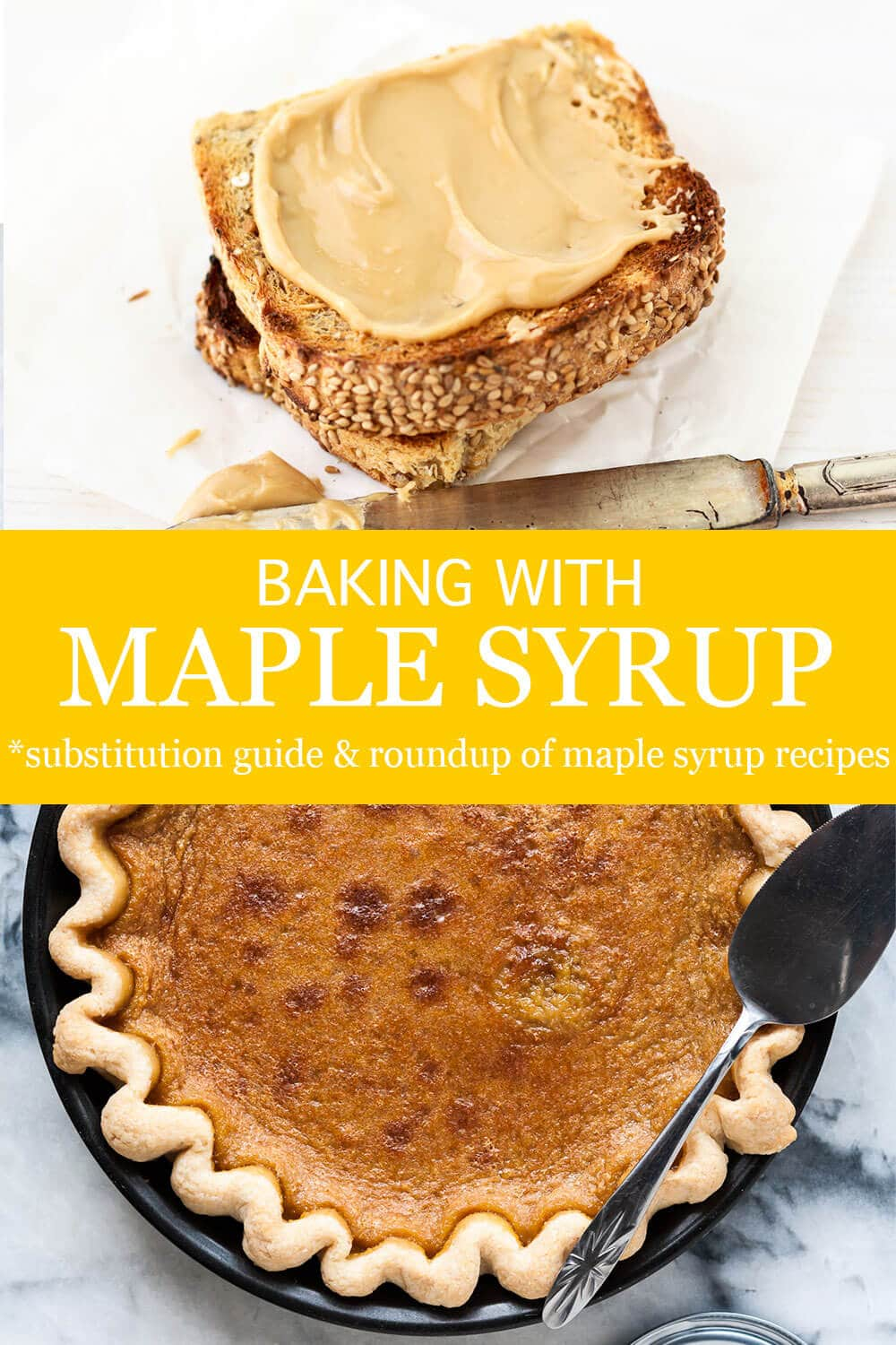 Maple syrup can be used to make maple butter, a spread for toast or even maple syrup pie