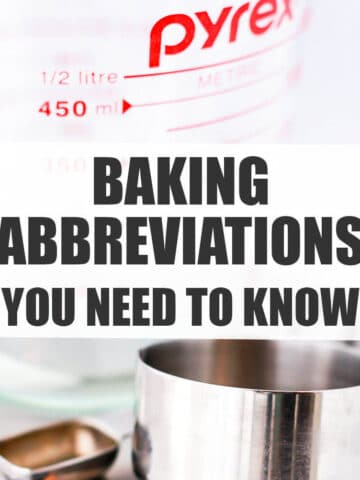 Baking abbreviations you need to know.