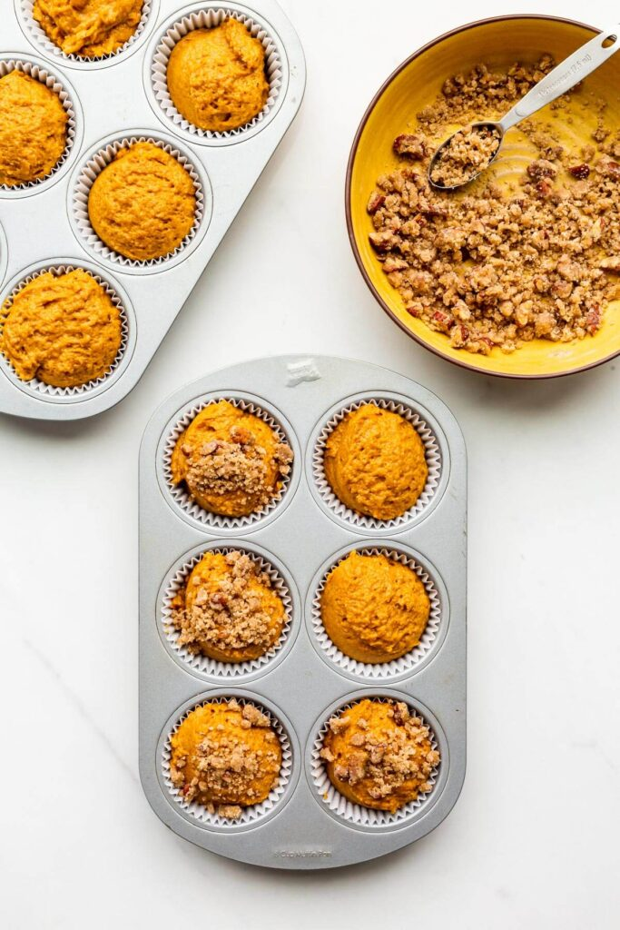 Pumpkin muffins before baking.