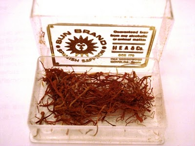 A box of spanish saffron by Sun Brand to show the reddish-orange strands of saffron